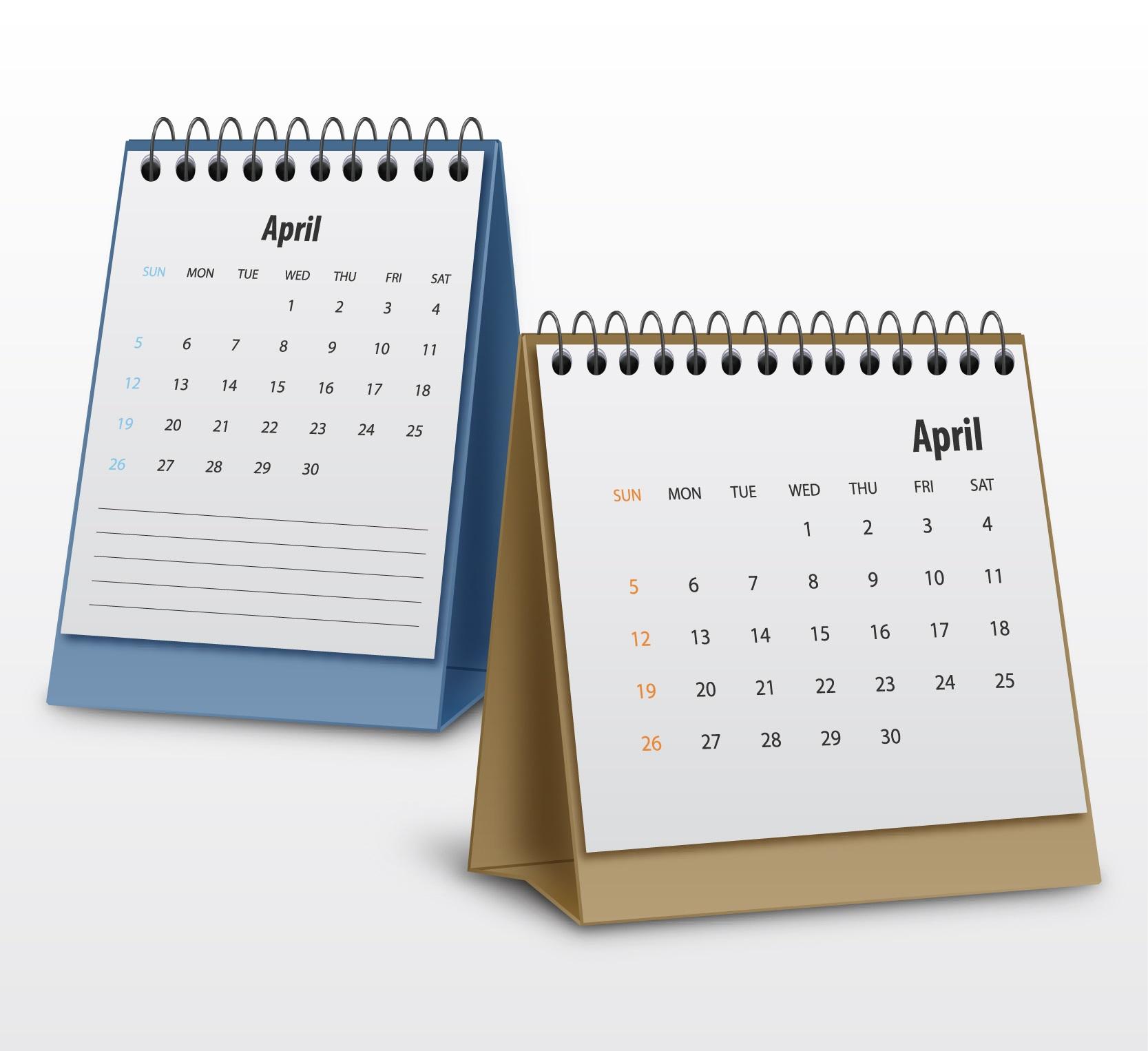 креативен дизайн на календари